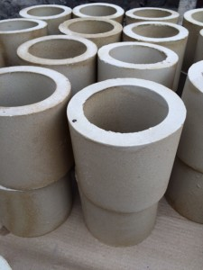Acid resistant ceramic sleeves