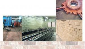 Acid brick-tile lining
